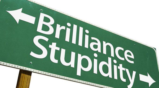 brilliance-stupidity-road-sign